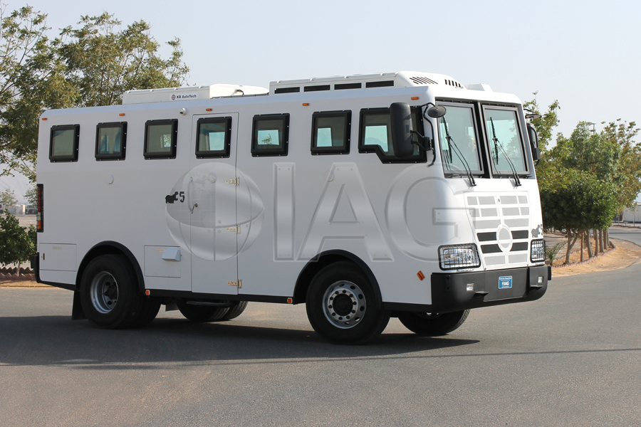 International Armored Group Armadillo Armored Bus