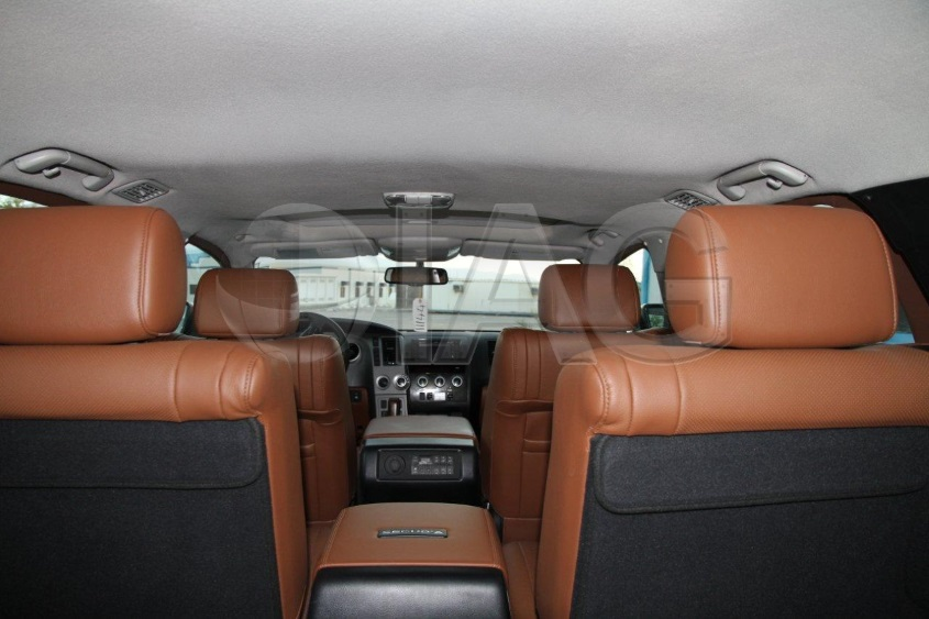 Armoured Toyota Sequoia interior rear