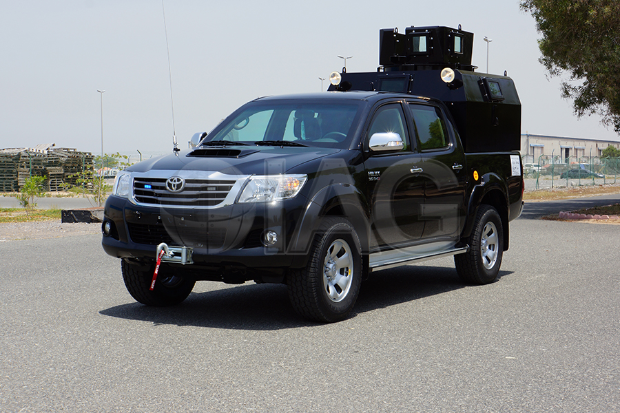 armored toyota hilux patrol truck