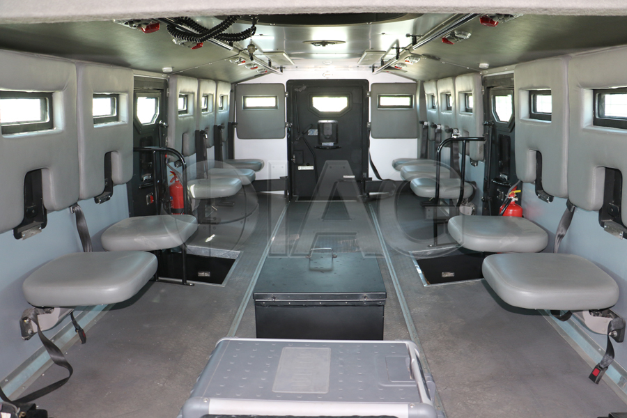 armored anti riot truck seating