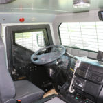 armored anti riot truck driver interior