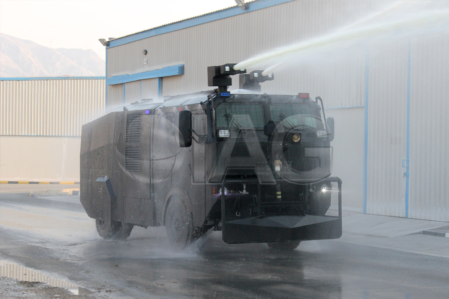 armored water cannon crowd control