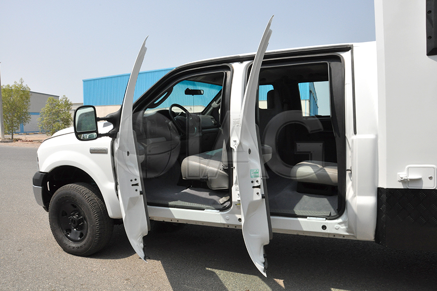 Ford F-350 CIT Armored Double Cab Doors