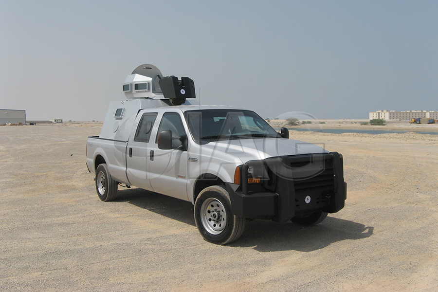 armored ford f350 patrol truck