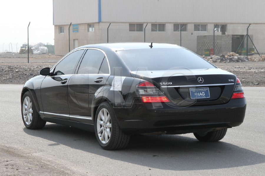 Mercedes Benz S Class Armored Rear Storage