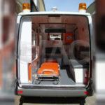 Mercedes Benz Sprinter Ambulance Interior Stretcher and Medical Equipment