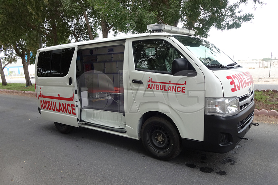 Toyota Hiace Ambulance Upgraded sliding doors