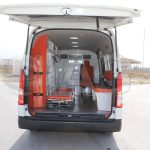 Toyota Hiace Ambulance Entry and Exit points