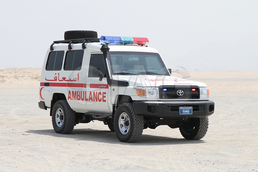 toyota lc 78 armored ambulance