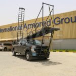 f350 tactical ladder system with stowed ramp